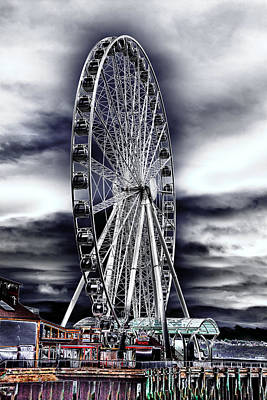 Photograph - Seattle's Great Wheel by David Patterson