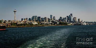 Photograph - Seattle's Great Wheel Waterfront Skyline by Deborah Klubertanz