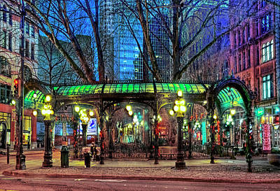 Photograph - Seattle's Iron Pergola by Greg Sigrist