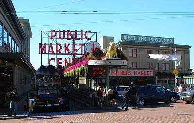 Seattle's Pike Place Market Center  Art Print by Candace Garcia
