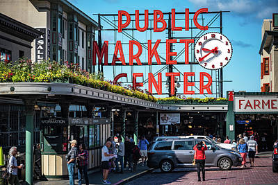 Photograph - Seattle's Pike's Place Market by Anthony Doudt