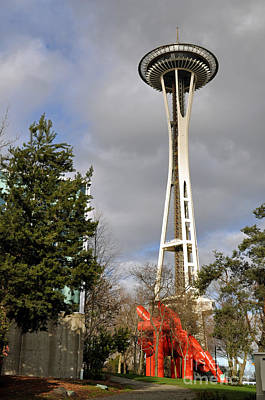 Photograph - Seattle's Space Needle by Cindy Murphy - NightVisions