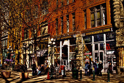 Storefront Photograph - Seattle's Underground Tour by David Patterson