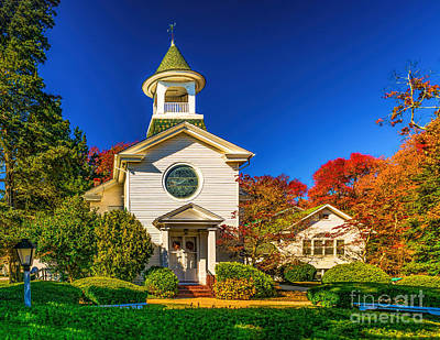 Photograph - Seaville United Methodist Church - Nj by Nick Zelinsky