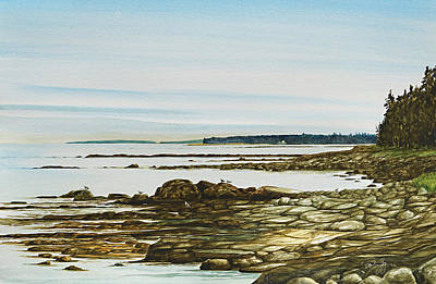 Painting - Seawall Mt. Desert Island by Paul Gaj