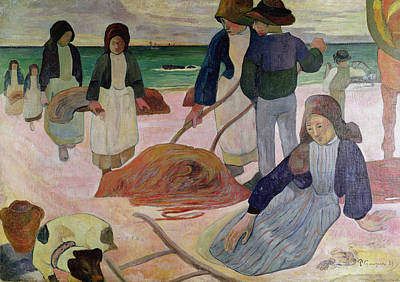 Gatherers Painting - Seaweed Gatherers by Paul Gauguin