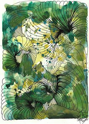 Drawing - Seaweed by Julia Zoellner