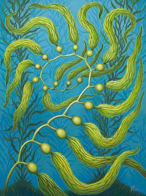 Painting - Seaweed Spiral by Tish Wynne