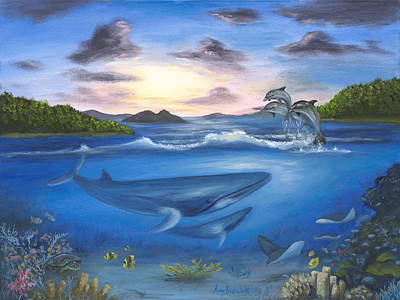 Painting - Seaworld by Anne Kushnick