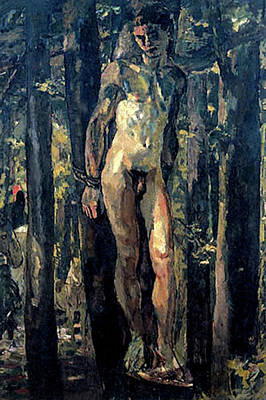 Painting - Sebastian Tied In The Woods by Albert Weisgerber