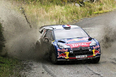 Sebastien Loeb Wrc Rally Gb Art Print