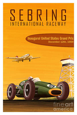 Open-wheel Photograph - Sebring Raceway Poster by Jon Neidert