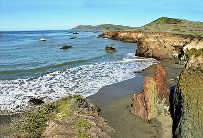 Photograph - Secluded Beach Big Sur California 2 by Floyd Snyder