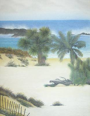 Pastel - Secluded Beach by Linda Bennett