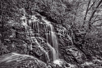 Photograph - Secluded Falls - Bw by Christopher Holmes