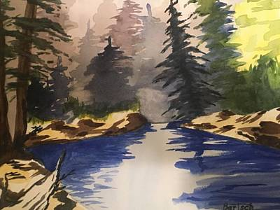 Painting - Secluded Glen by David Bartsch