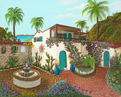 Painting - Secluded Paradise by Katherine Young-Beck