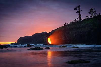 Photograph - Second Beach Light Shaft by Dan Mihai