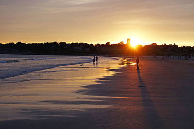 Photograph - Second Beach Newport Ri Long Shadow by Toby McGuire