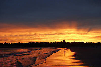 Photograph - Second Beach Newport Ri Sunrays by Toby McGuire