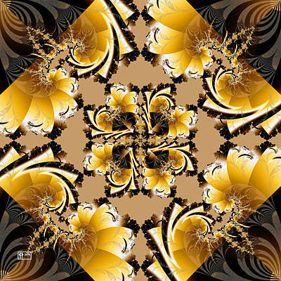 Digital Art - Autumnal Square by Jim Pavelle