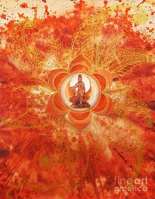 Second Chakra Art Print by Joan Doyle