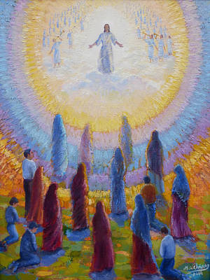 Painting - Second Coming Of Jesus Christ by Miguel A Chavez