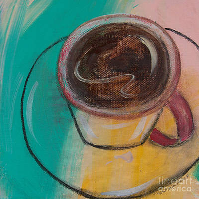Painting - Second Cup Of Coffee by Robin Maria Pedrero