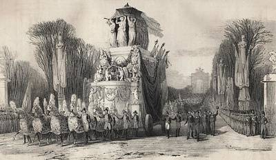 Napoleon Bonaparte Drawing - Second Funeral Of Napoleon Bonaparte In by Vintage Design Pics