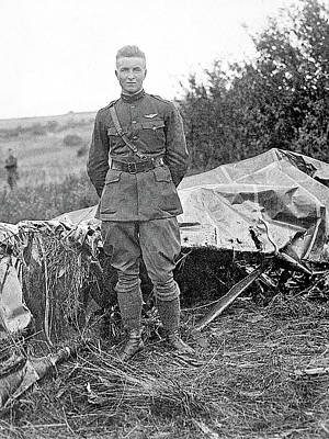 Photograph - Second Lieutenant Frank Luke With His 13th Official Kill September 18 1918 Somewhere In  France by David Lee Guss