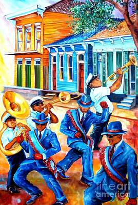 Trumpet Painting - Second Line In Treme by Diane Millsap