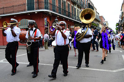 Photograph - Second Line March, New Orleans by James Kirkikis