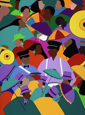 Second Line New Orleans Art Print