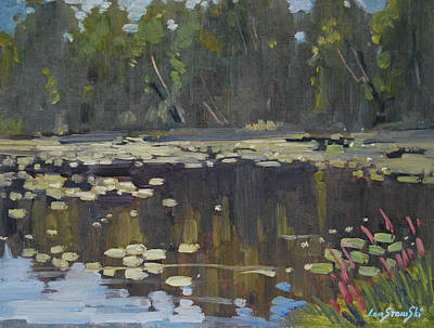 Berkshire Hills Painting - Second Pond by Len Stomski