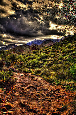 Photograph - Second Water Trail, Mountains And Clouds by Roger Passman