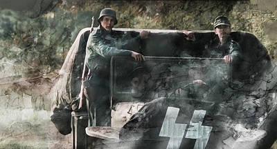 Warrior Painting - Second World War 0285 by Jani Heinonen