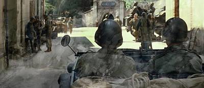 Infantryman Painting - Second World War 08895 by Jani Heinonen