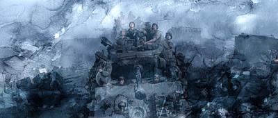 Infantryman Painting - Second World War 10 by Jani Heinonen