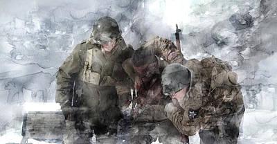 Infantryman Painting - Second World War 110 by Jani Heinonen