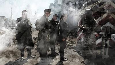 Infantryman Painting - Second World War 133 by Jani Heinonen