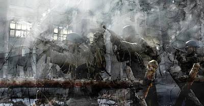 Infantryman Painting - Second World War 140 by Jani Heinonen