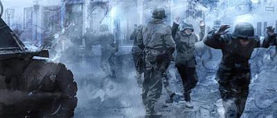 Infantryman Painting - Second World War 16 by Jani Heinonen