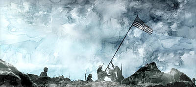 American Painting - Second World War 22 by Jani Heinonen
