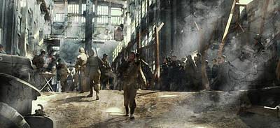 Infantryman Painting - Second World War 3255 by Jani Heinonen