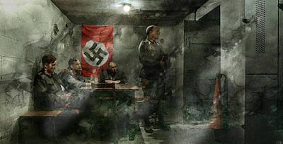 Infantryman Painting - Second World War 422 by Jani Heinonen