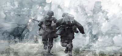 Infantryman Painting - Second World War 49 by Jani Heinonen