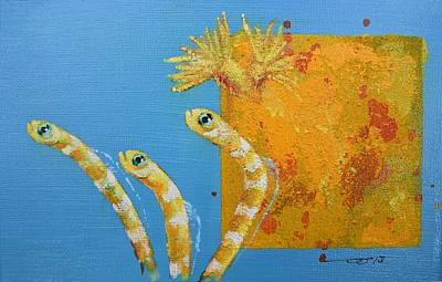 Painting - Secret Garden Eels Detail by Eduard Meinema