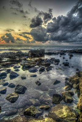 Photograph - Secret Beach Sunset 2 Aulani Disney Resort And Spa  Hawaii Collection Art by Reid Callaway