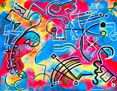 Painting - Secret Code by Gina Nicolae Johnson