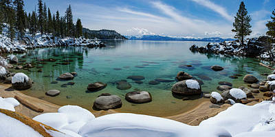 Photograph - Secret Cove Winter Panorama By Brad Scott by Brad Scott